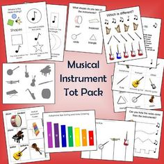 Free Musical Instruments Tot Pack Printables Memorizing the Moments: Preschool Music Activities, Music Education Activities, Kindergarten Music, Early Education, Health Education, Physical Education, Music Lesson Plans, Music Lessons, Piano Lessons