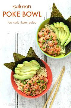 Keto & Paleo Salmon Poke Bowl