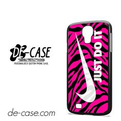 Pink-Zebra-Just-Do-It-DEAL-8730-Samsung-Phonecase-Cover-For-Samsung-Galaxy-S4-/-S4-Mini