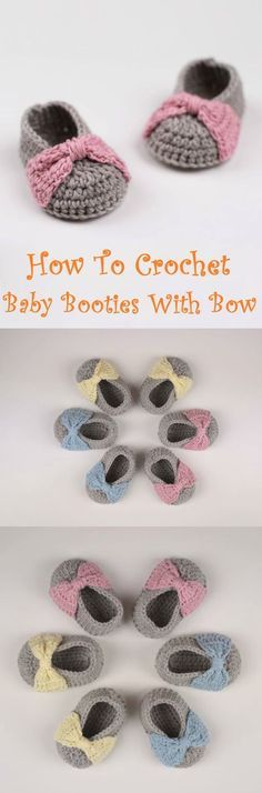 Baby Booties with Bow