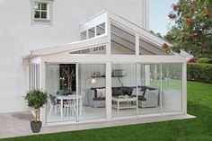 super Ideas for house big garden dreams Pergola Ideas Backyard Pergola, Pergola Kits, Pergola Swing, Outdoor Rooms, Outdoor Living, Glass Conservatory, Conservatory Interiors, Enclosed Patio, Pergola Attached To House