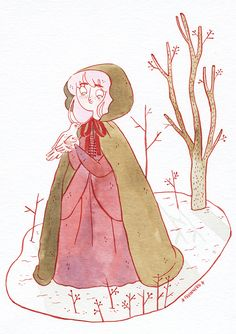 The Old Woman in the Woods, for inktober day 4!-Frannerd