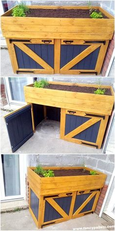 Lovely Wooden Pallets Chest Storage With Cabinet Wood Pallet Crafts, Pallet Kids, Wooden Pallet Furniture, Wooden Pallets, Diy Furniture, Furniture Storage, Woodworking Projects, Diy Projects, Pallet Projects