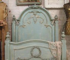Painted Cottage Aqua Chic Romance Bed BD157 - etsy