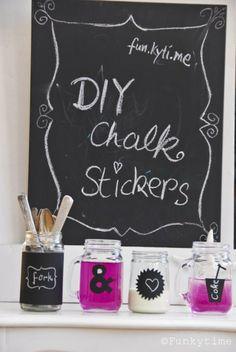 Chalk label diy