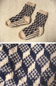 Route 66 socks from Stephanie Van Der Linden's book Around the World in Knitted Socks.