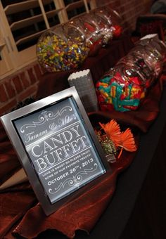 Wedding Candy Buffet Sign or Poster DIY Print Ready