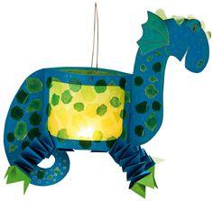 Blauwe draak...mooi formaat en leuk ook voor jongens! Nu nog een prinseslampion voor de meiden!