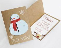 Cartão de Natal artesanal _ Boneco