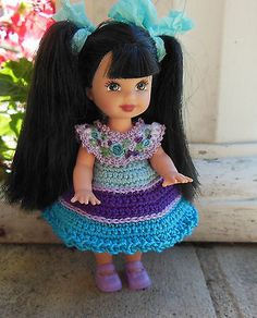 Crochet-Doll-Clothes-for-4-Kelly-same-sized-dolls-3-years