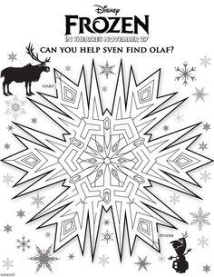 Olaf the Snowman Maze from Disney's Frozen