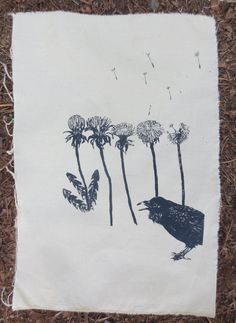 Ravens and dandelions back patch