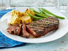 This sweet, tangy and salty marinade gives steak a major flavour boost. Steak Recipes, Rice Recipes, Grilling Recipes, Cooking Recipes, Angus Steak, Clean Eating, Healthy Eating, Quick Meals