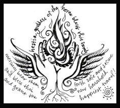 Like the idea of a spell doodle.... hestia symbol - Google Search