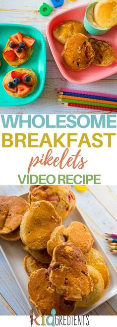 Wholesome breakfast pikelets- a great way to start the day with three flavour variations and ideas for topping! #kidsfood #pikelets #pancakes #healthybreakfast via @kidgredients