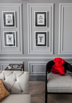 Decorative Wall Molding Or Wall Moulding Designs Ideas And Panels Decorative W. Decorative Wall Molding Or Wall Moulding Designs Ideas And Panels Decorative Wall Molding Panels Grey Wall Mirrors, Frames On Wall, Wall Design, House Design, Design Room, Ceiling Design, Wall Molding, Molding Ideas, Panel Moulding
