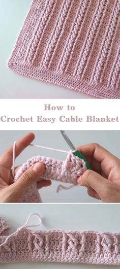 Crochet Diy, Crochet Simple, Crochet Afghans, Learn To Crochet, Baby Blanket Crochet, Crochet Crafts, Easy Things To Crochet, Diy Crafts Knitting, Knitted Baby