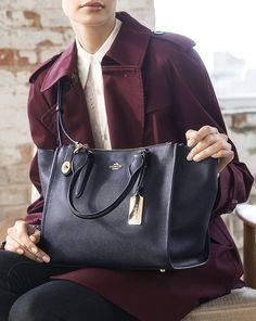 Coach Crosby Leather Carryall Bag, Navy - Iskanje Google