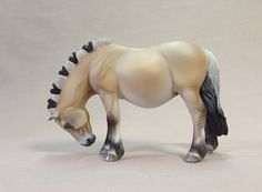 Custom CollectA to pregnant Fjord by Franceyn Dare. Cleveland Bay, Plush Horse, Fjord Horse, Akhal Teke, Painted Pony, Breyer Horses, Clydesdale, Horses For Sale, Friesian