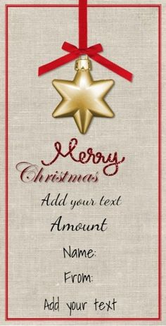 Free Printable Christmas Gift Certificate Template. Can Be Customized  Online. Instant Download. Since  Free Christmas Gift Certificate Templates