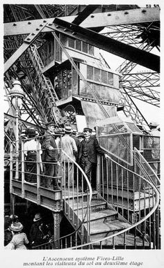 The Eiffel Tower's Inauguration and first visitors Tour Eiffel, Paris Eiffel Tower, Gustave Eiffel, Paris 1900, Paris France, Okinawa, Civil Engineering Construction, History Of Photography, City Break