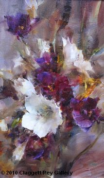 Bouquet in White פרחים מודרני and Purple by Laura Robb Oil ~ 16 x 10 Oil Painting Flowers, Abstract Flowers, Landscape Art, Landscape Paintings, Still Life Flowers, Action Painting, Still Life Art, Arte Floral, Beautiful Paintings