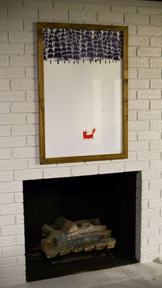 Cheap & easy large print frame - make sure to use something acid free instead of cardboard