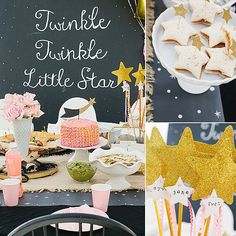 """This """"twinkle twinkle little star"""" first birthday bash might just be our ideal party: it looks small and pretty simple to execute, but it has a handful of special details, great style, and a mom who's not afraid to be totally real. """"Although the party was a blast, the setup was crazy; I mean seriously so many things kept going wrong,"""" says mom, interior designer, and blogger Kirsten Karson. """"I had two hours to get everything ready, which seemed like plenty of time, but I probably should have…"""