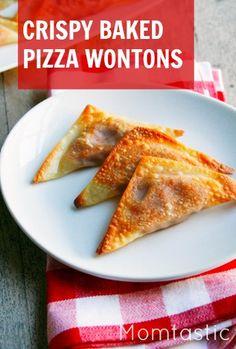 Yummy basked pizza wontons!
