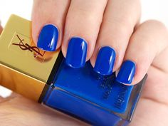 NOTW: Yves Saint Laurent La Laque Couture in 18 Bleu Majorelle