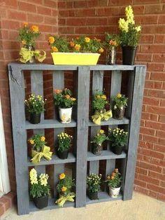 Pallet garden shelf