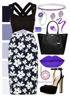 popping purple by fantastic-wreck on Polyvore featuring River Island, Marni, Michael Kors, Lancôme, NARS Cosmetics, Essie and Blossomjewels