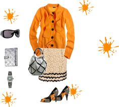 """Orange Sophisticate"" by deca30 on Polyvore"