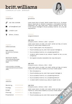 Elegant Curriculum Vitae template design for Word and PowerPoint. Matching Cover letter design included. Fully editable and reusable files. Download link directly available Cover Letter Template, Cover Letter Design, Letter Templates, Resume Templates, Cv Inspiration, Verse, Creative Cv Template, Cv Design Template, Curriculum Vitae Template
