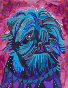 11x14 Affenpinscher Art Dog Poster Print of by HeatherGallerArt, $24.00