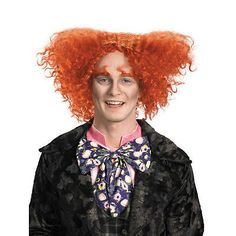 Disney Alice In Wonderland Mad Hatter Adult Costume Wig - Johnny Depp Mad Wig Product Description This is an unbelievably outrageous head of curly orange hair. The Mad Hatter Wig for adults is modeled