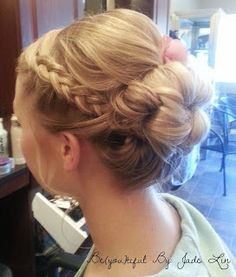 lovely braid updo. tons of wedding hair on this website
