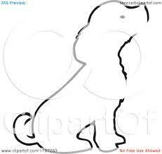 Image result for dog outline tattoo cavalier