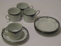 Noritake Squirewood Cup and Saucer Sets by JosChinaShop on Etsy, $36.00
