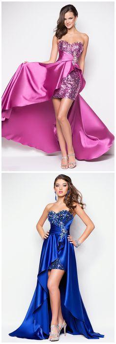 Chic Modern Asymmetrical Satin Beading Sequins Sleeveless Prom Dresses
