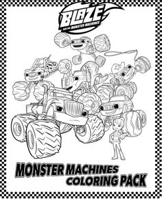 Monster Truck Coloring Pages Cartoon