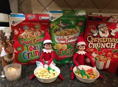 Pippa and Pringle bring a sweet Christmas breakfast treat- Elf on the Shelf