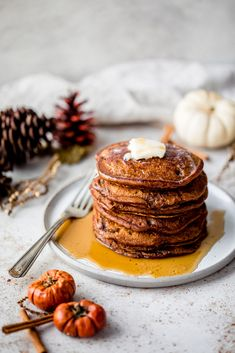 Fluffy Gingerbread Pancakes | Ambitious Kitchen Freeze Pancakes, Pancakes And Waffles, Chocolate Peanuts, Chocolate Peanut Butter, Breakfast Options, Breakfast Recipes, Gingerbread Pancakes, Pancake Calories, Desserts To Make