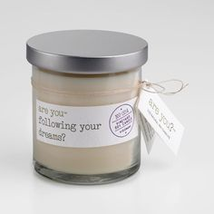 Are You? branded goods, soy candle.