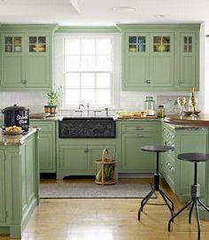 Sage Green Kitchen Cabinets sage green kitchen walls | sage green kitchen cabinets with black