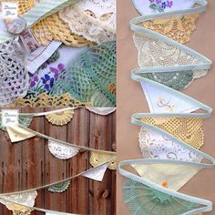 We were delighted to find our our 'Fern Primrose' doily bunting was featured on a creative blog! http://www.daisiesblue.co.uk/2016/01/our-vintage-crochet-bunting-features-on.html?m=1