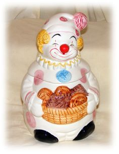 Adorable Clown Cookie Jar by TheCraftBlossom on Etsy