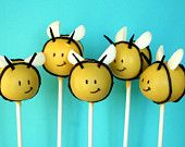 12 Busy Bee or Baby Bee Cake Pops - for baby shower, mom-to-bee, party favor, birthday, gender reveal, new mom gift, winnie the pooh #EasyNip