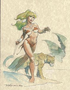 Jungle Girl - Mike Hoffman Comic Art