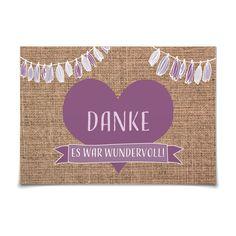 Dankeskarte Rustique in Lavendel - Postkarte flach #Hochzeit #Hochzeitskarten #Danksagung #Foto #kreativ #vintage https://www.goldbek.de/hochzeit/hochzeitskarten/danksagung/dankeskarte-rustique?color=lavendel&design=07c53&utm_campaign=autoproducts